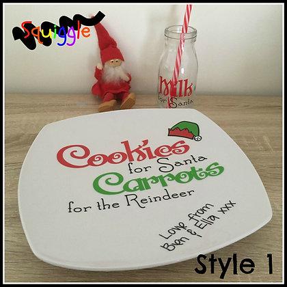 Personalised Plate Set for Santa
