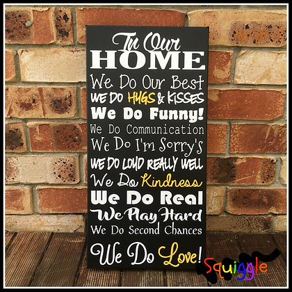 'In Our Home' wall art