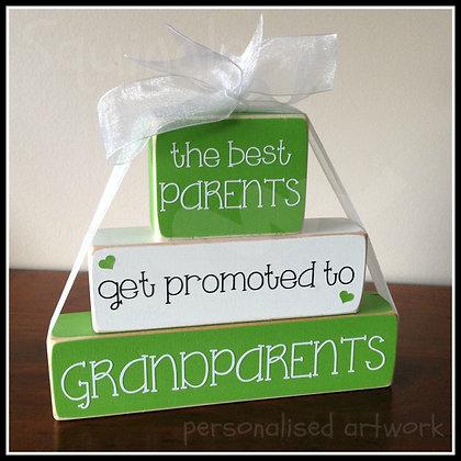 """Best Parents get promoted to"" Block sets"
