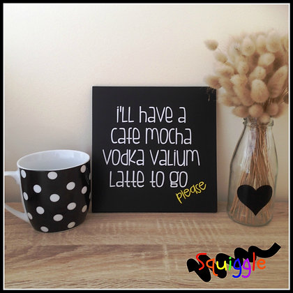 Fun 'Cafe Mocha' sign