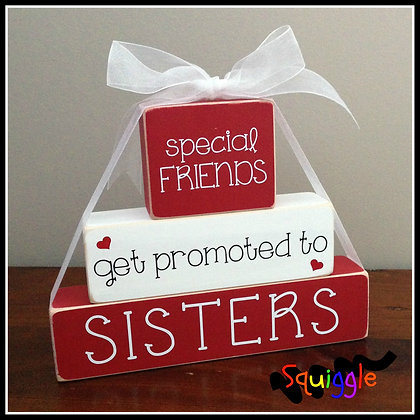 """Special Friends get promoted to Sisters"" Block sets"
