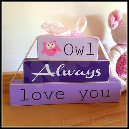 'Owl Always Love You' block set