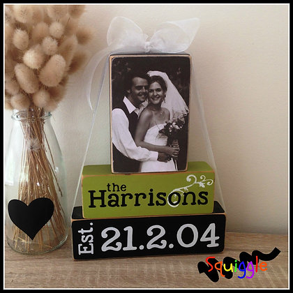 Anniversary/Wedding Photo Block sets