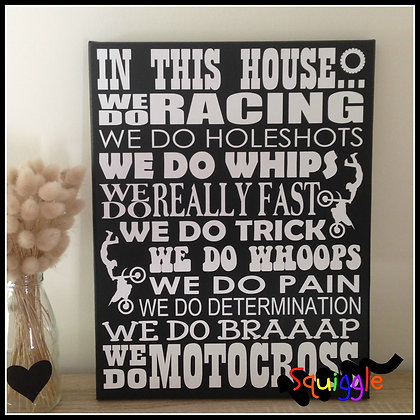 'In This House...' Sign (Motocross)