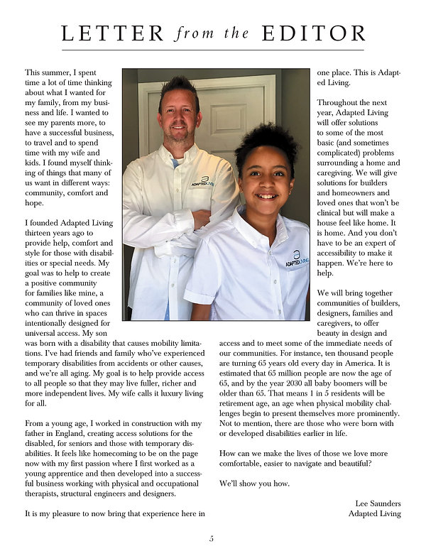 A pdf letter from the Editor, Lee Saunders pictured with Ava