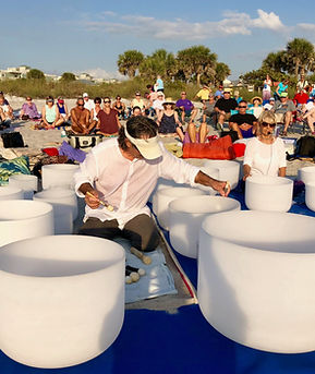 Loving Light Yoga Sunset Sound Meditation with the Crystal Bowls - Come Join Us!