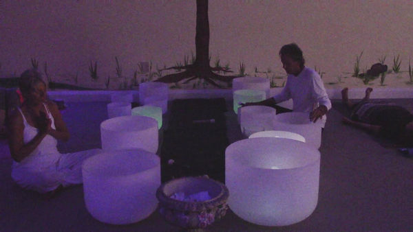 Loving Light Yoga Video Description - Crystal Bowls Meditaton