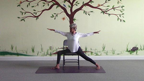 Loving Light Yoga Video Description - Yoga Flow in a Chair