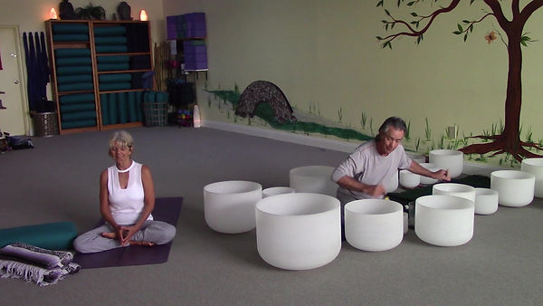 Loving Light Yoga Video Description - Restorative Yoga with the Crystal Bowls