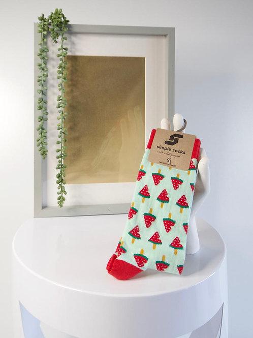Simple Socks-Watermelon