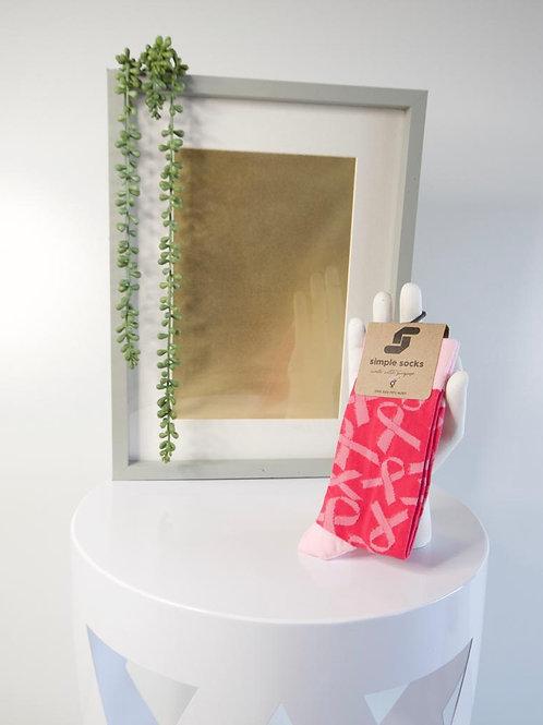 Simple Socks-Pink Cancer