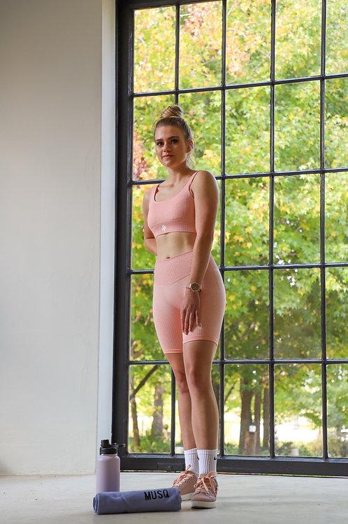Ladies pants and Sports Bra Pink