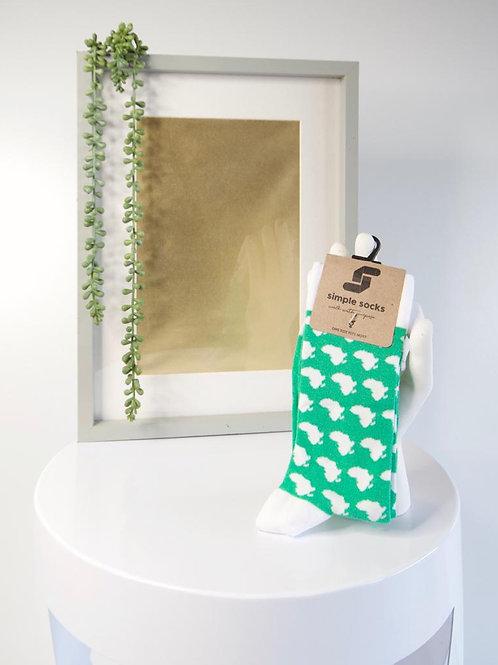 Simple Socks-Green Africa
