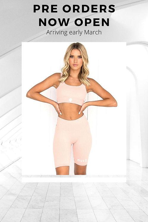 Pink short gym set