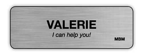 Name tag - office personnel