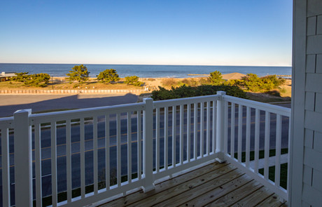 Apartment balcony overlooking the bay