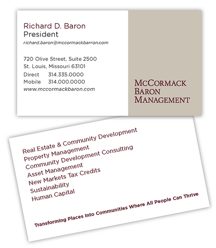 MBM/MBC corporate business card
