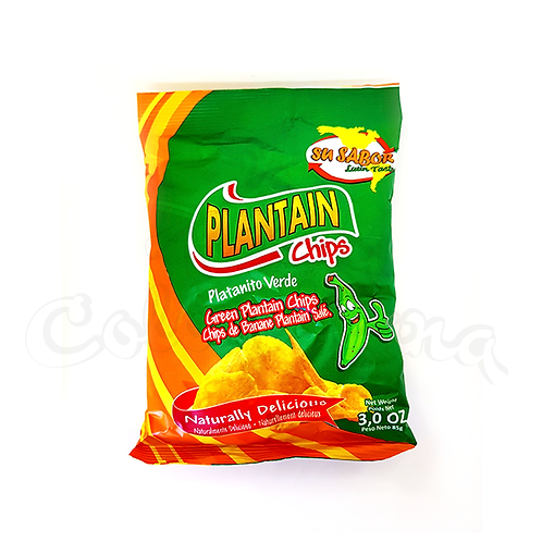 Green Plantain chips in New Zealand Colombian snack in NZ
