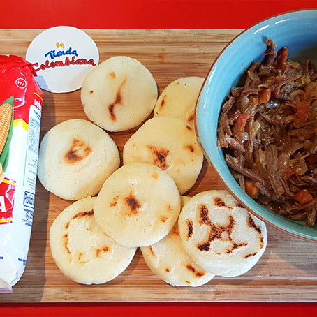 Arepas With Shredded Beef