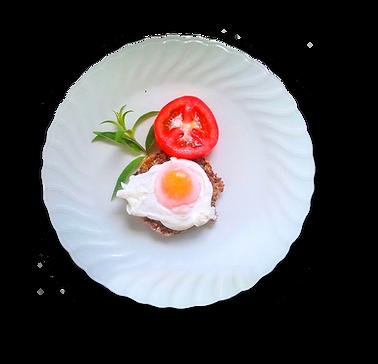 Essene Bread with eggs
