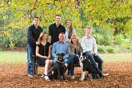 Outdoor family portrait in the park