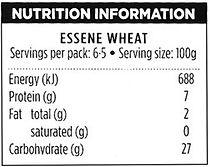 Nutrition information essene bread