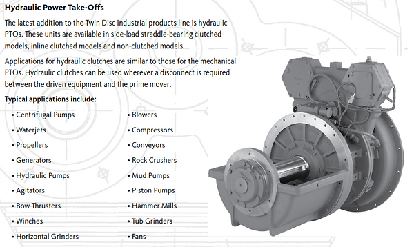 Twin Disc Industrial Torque Converters & Transmissions