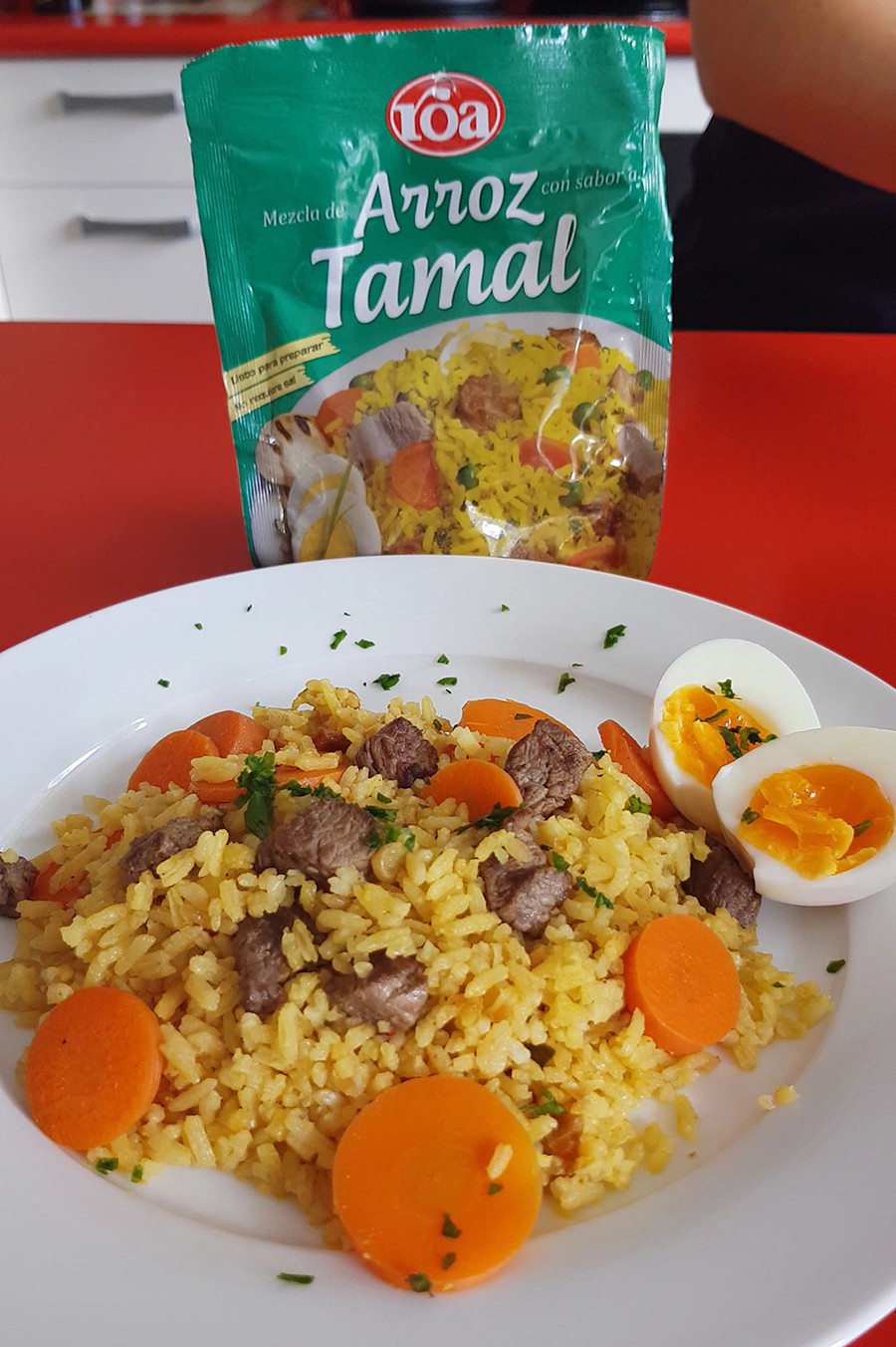 Tamal Rice colombian food in new zealand