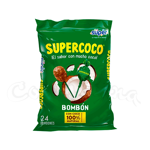 Supercoco Lollipop Bombón Supercoco Colombian candy in NZ