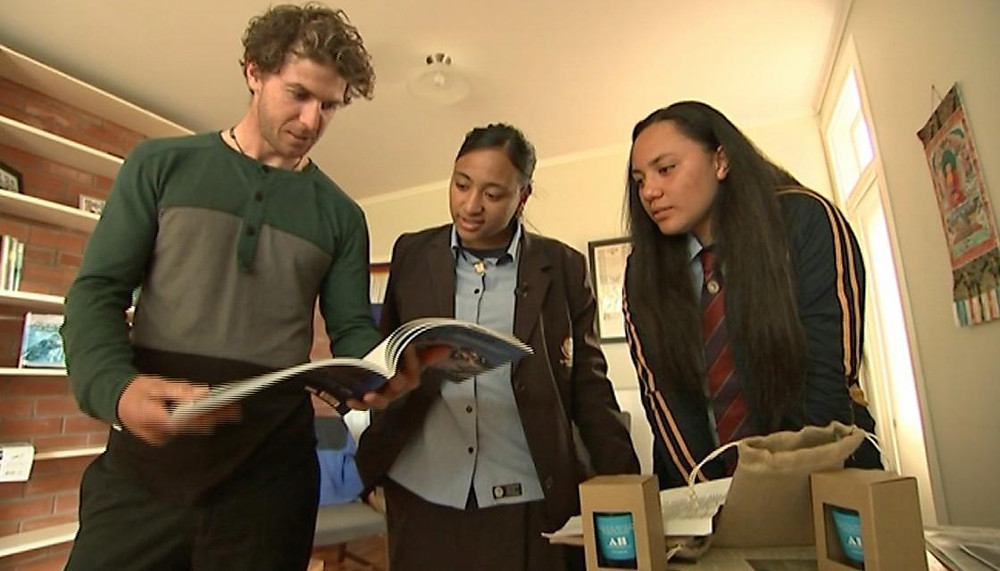 Olympian Mike Dawson, Mele Fetu and Lana Kiddie-Vai.