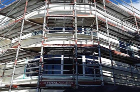 Straight Paint residential scaffolding