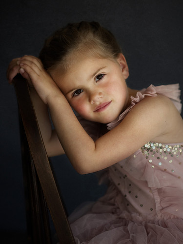 Professional studio photography portrait of young girl
