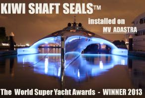 Henleys supply stern gear for world award winning vessel 'ADASTRA'