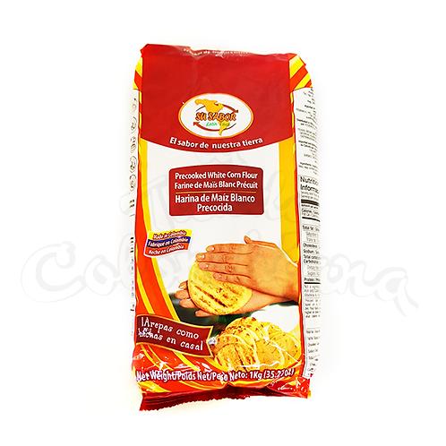 Harina para hacer Arepas marca su sabor