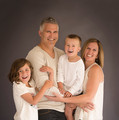 Fun studio family portrait