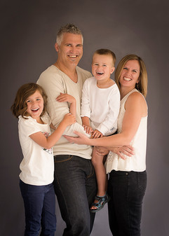 Fun studio family portrait