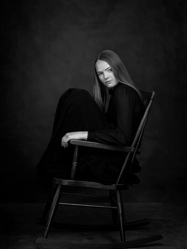 Black and white Fine Art studio photography portrait