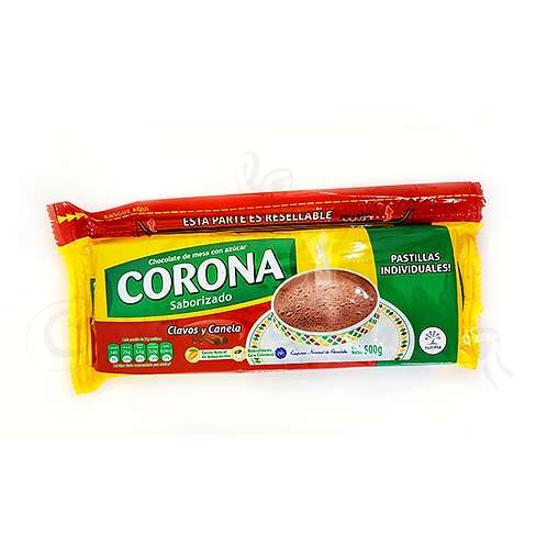 Hot Chocolate Cinnamon and Cloves Flavor (Corona Clavos y Canela) - 500g