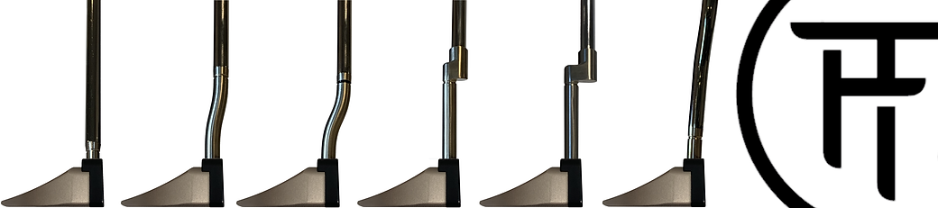 Neck options for golf putters fitting