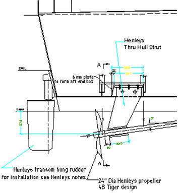thruhull struts Henleys propellers new zealand
