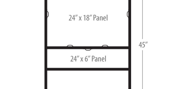 18″x24″ Double Rider Slide-in H-Frame