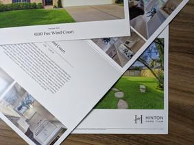 Real Estate Brochure on 130lb Silk Cover
