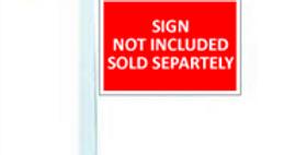 5′ White Single Arm Sign Post