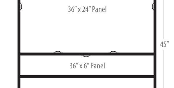24″x36″ Slide-in H-Frame