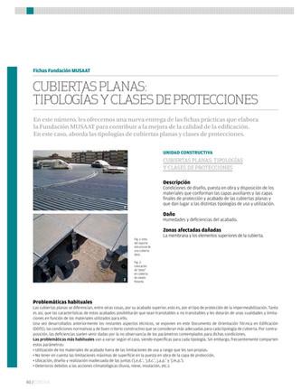 Cubiertas planas: tipologías y clases de protecciones