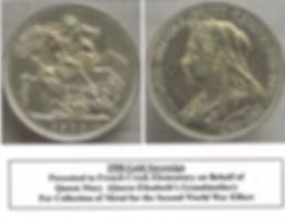 1900 Gold Sovereign Jr.RedCross tropy fo