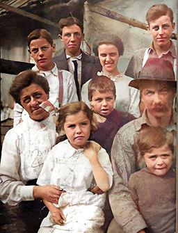 Parker Family on Parker Road 1914 Colori