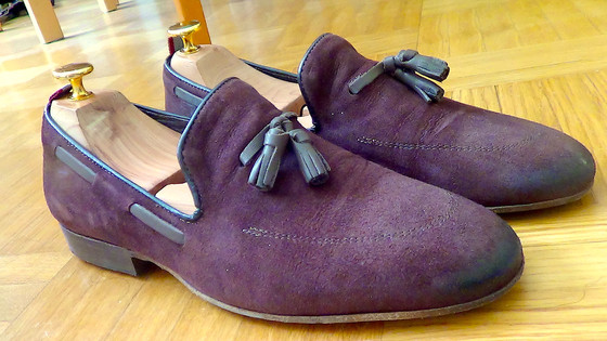Pratesi Drake loafers in suede with tassel from Ambra
