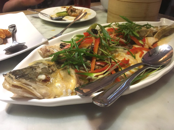 Steamed Whole Zander in Stockholm