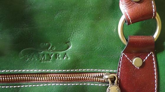 Beautiful green weekend bag from Samyra Roma!
